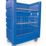 Laundry Cart with Shelves