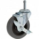 Rubbermaid Caster Replacment with Grip Stem and Side Brake