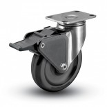 Stainless Steel Caster with Plastic Brake