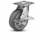 Heavy Duty Stainless Steel Caster with Side Brake