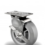 Heavy Duty Stainless Steel Caster with Top Lock Side Pedal Brake