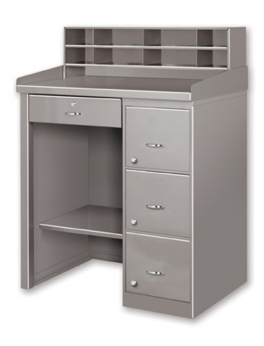 Desk With Trays And Drawers