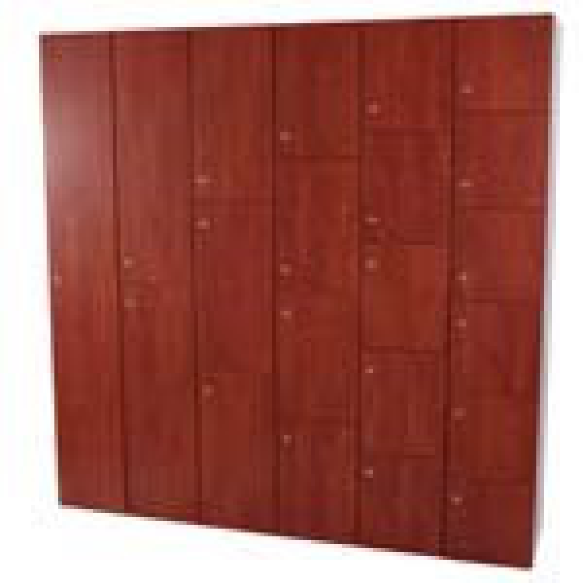3x6 Metal Lockers Single Wood Locker Executive Lockers Wood Finish ...