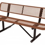 Expanded Metal Bench with Poly Coat