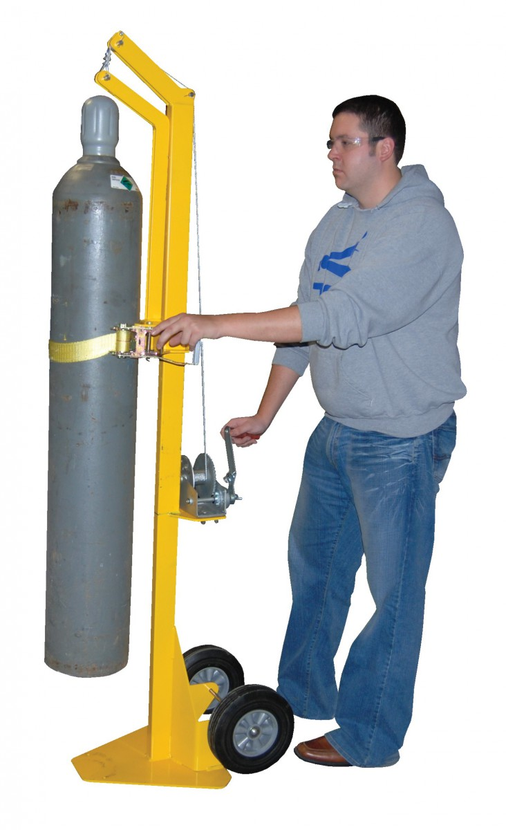 Cylinder Lifting Equipment : Gas cylinder handling equipment storage