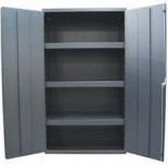 Industrial Metal Cabinet with Shelves