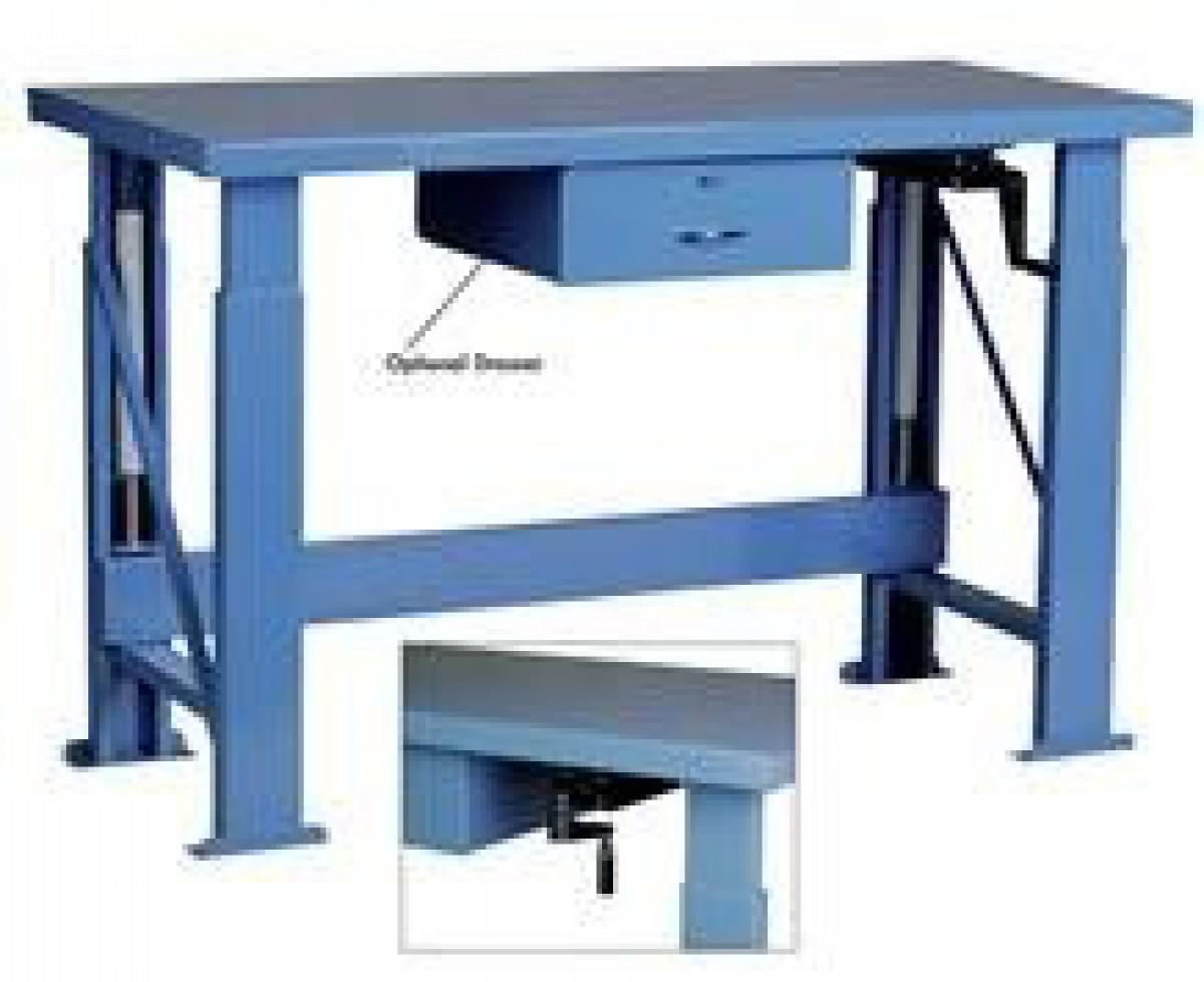 ... Desk Manual Adjustable Industrial Work Table ...
