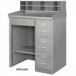 Metal Desk with Dividers