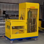 Mobile Welder's Cart with Cylinder Storage
