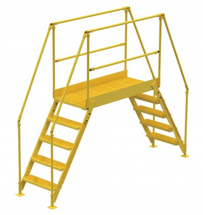 Steel Crossover Stairs with rails